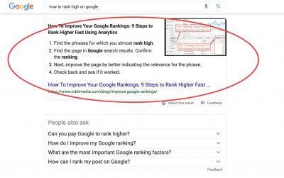 "Google's ""Answer Box"""