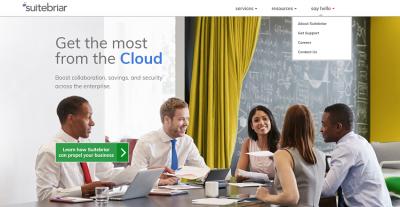 SuiteBriar Site Screenshot